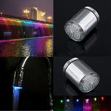 Rubinetto LED Sensore Temperatura Acqua Bagno Cucina Miscelatore Filtro 7 Colore