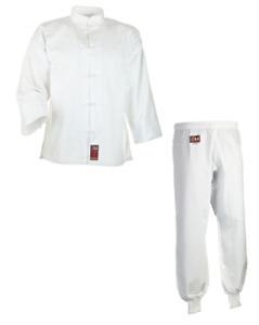 Kung Fu Anzug weiß von Ju Sports, 100% Cotton. In 140-200cm. WT, Tai Chi