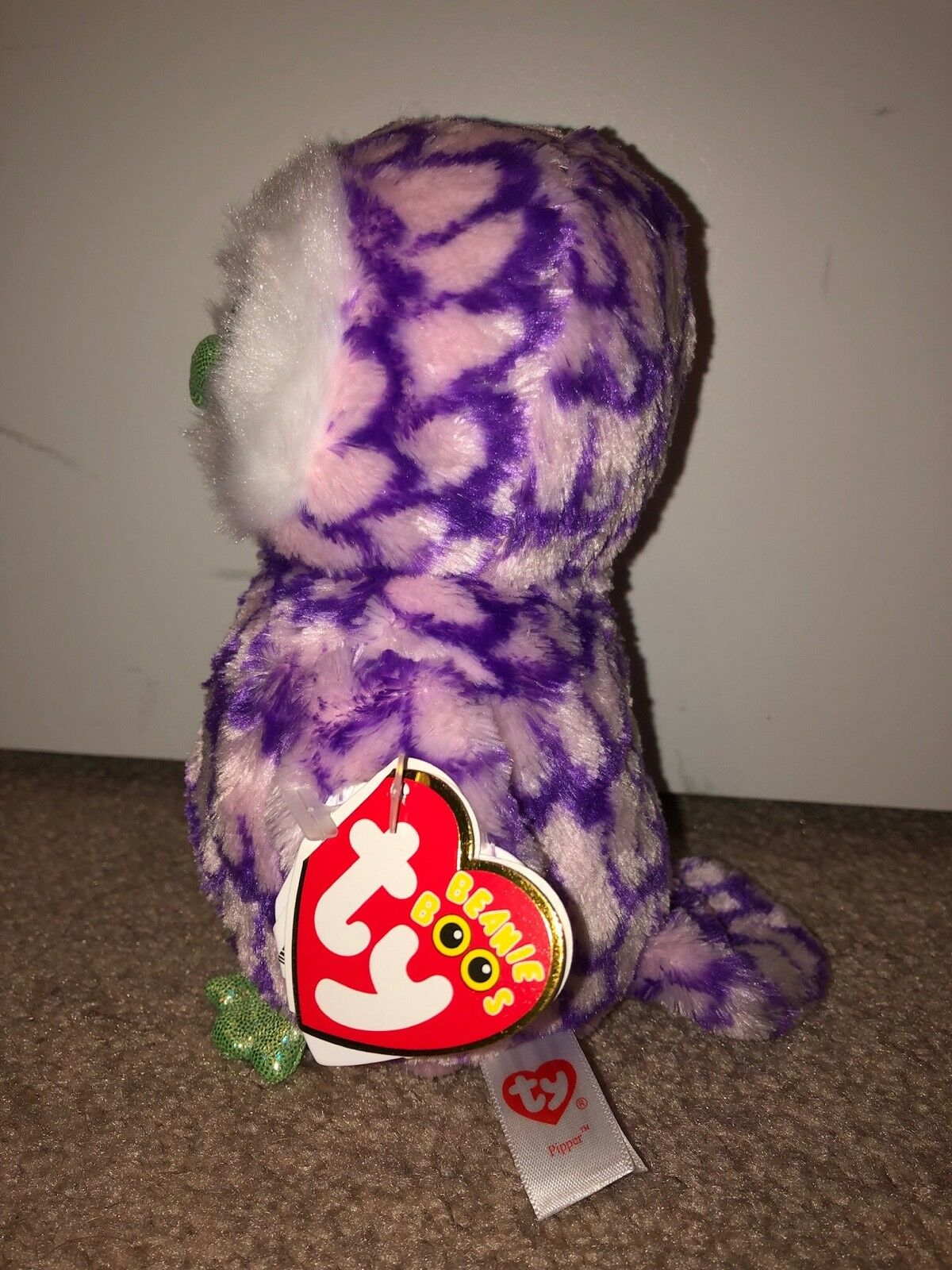 TY PIPPER PIPPER PIPPER OWL BEANIE BOOSCLAIRES-NEW, MINT TAGHARD TO FINDCOLORFUL 0d3b10