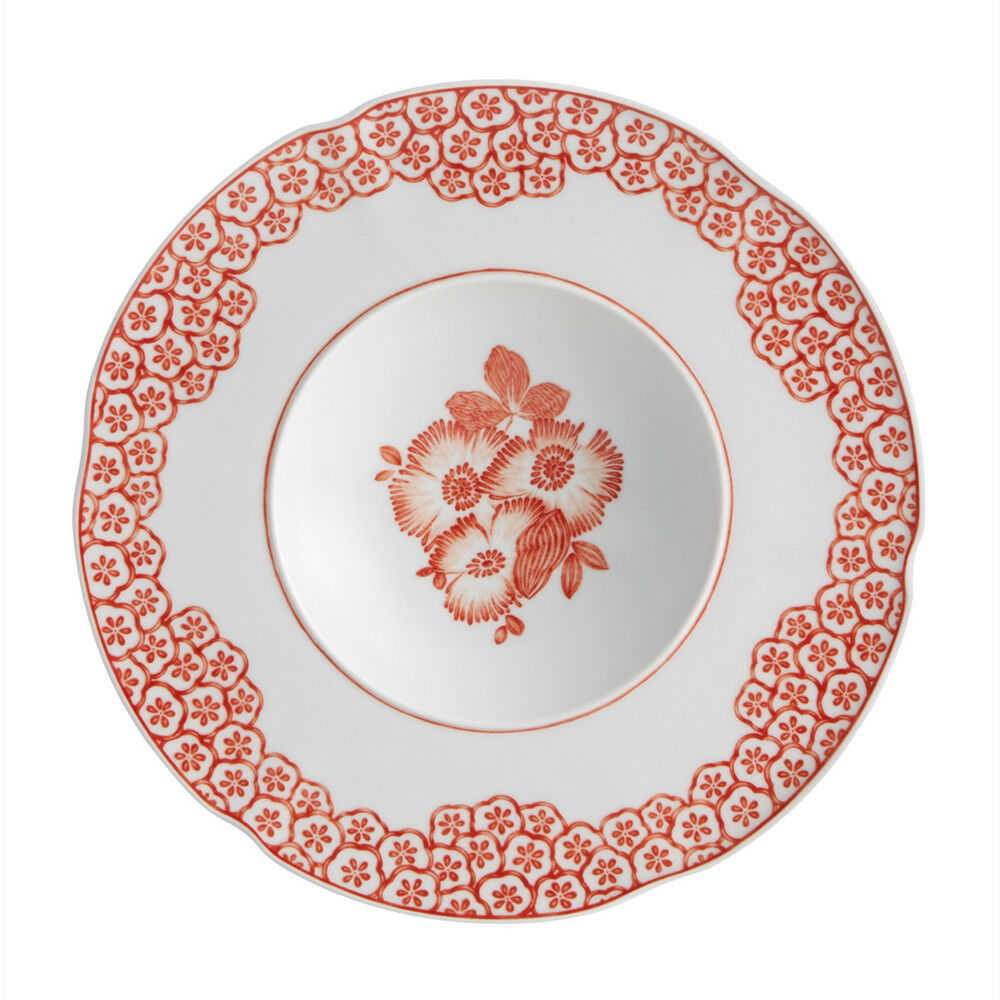 Vista Alegre Porcelain Coralina Soup Plate - Set of 4