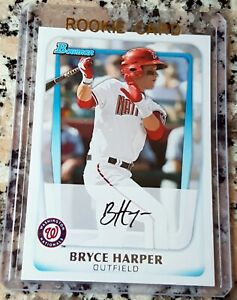 BRYCE-HARPER-2011-Bowman-1-Draft-Pick-Rookie-Card-RC-Philadelphia-Phillies