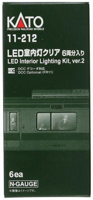 Kato 11212 N Passenger Car Light Kit White LED 6 from Japan F/S