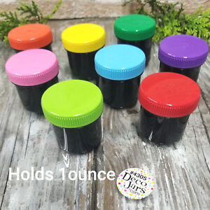 24-Black-Plastic-Hide-amp-Seek-Party-Favor-Candy-Containers-1-ounce-4305-USA-New
