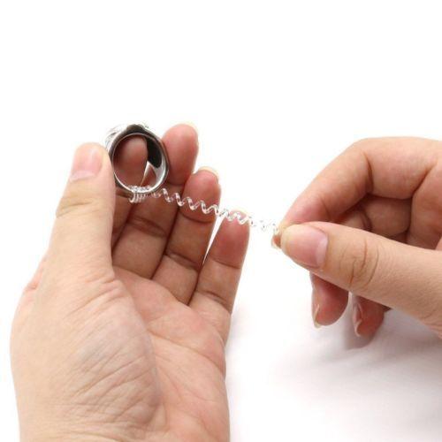 10cm de largo-se adapta a todos los anillos-cortar para adaptarse a Reductor de tamaño de anillo Wrap Clip Sizer