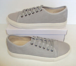 Trainers Grey Full Suede Lace Up Shoes