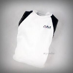 1//6 scale Tony Stark The Mechanic Sleeveless White AIM Logo Athletic Shirt