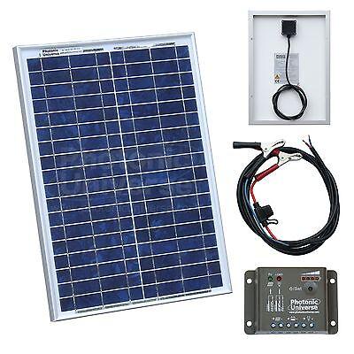20W 12V solar panel kit (charger) for motorhome, caravan, camper van, boat, car
