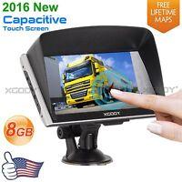 Xgody 8gb 7 Truck Car Gps Navigation Sat Nav Navigator System Lifetime Maps Poi