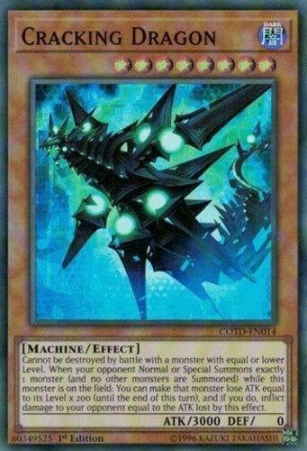 Yugioh COTD-EN014 Super Rare Cracking Dragon Unlimited Edition Near Mint,