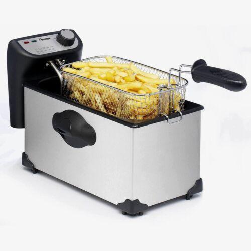 1 von 1 - Quigg AF351Q KALTZONE Küchen Fritöse Fritteuse 2200W Edelstahl Schwarz 111