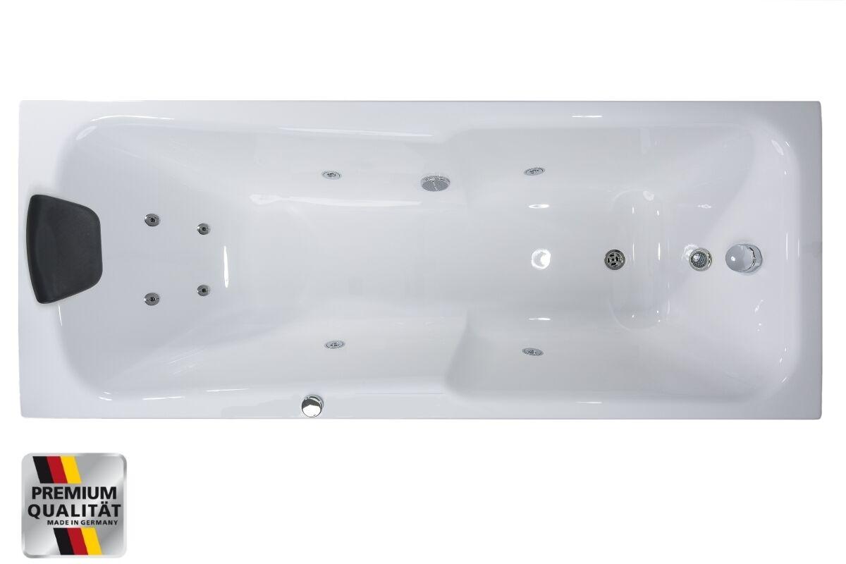 whirlpool eck badewanne rechts links mit 8 massage d sen raumsparwanne 1 person ebay