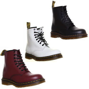 b4b23a4f6b8 Details about Dr Martens 1460 Smooth Unisex 8 Eyelet Lace Up Black Boots UK  Size 3 - 12