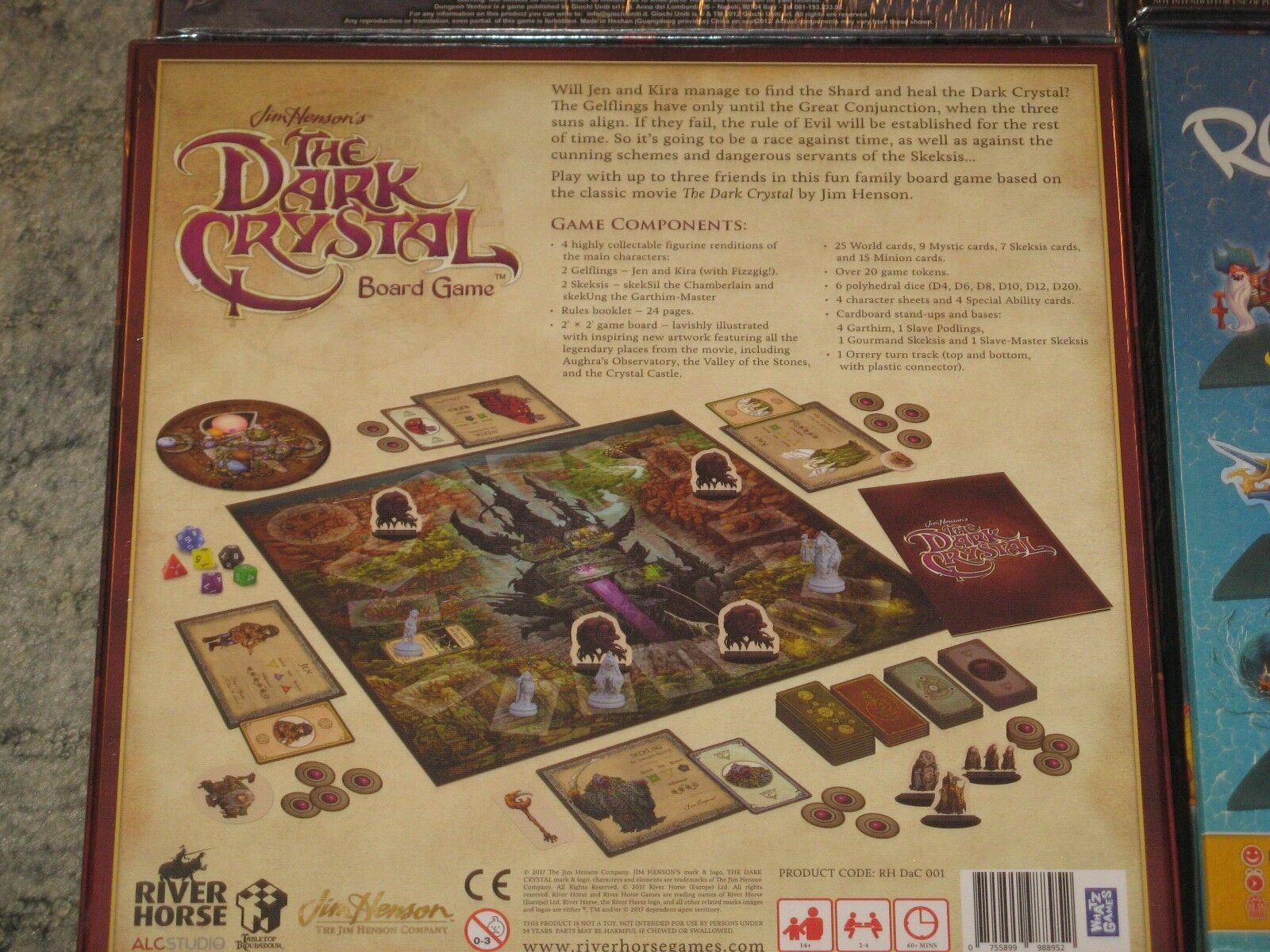Boardgame Boardgame Boardgame lot NEW Dungeon Venture/Winter Tales/Dark Crystal/Rattle Battle Loot 649f1a