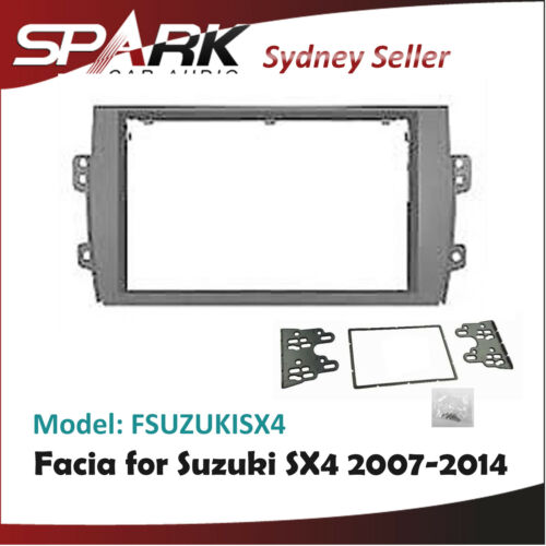 CP Facia Kit Fascia Panel Plate Dash Surround Trim 2DIN for Suzuki Sx4 2007-2014