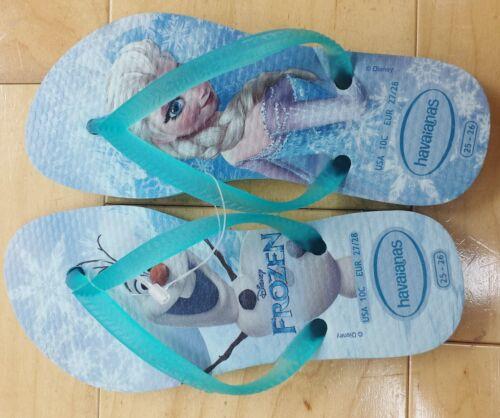 Kids Youth Havaianas flip flops sandals 13C//1Y Disney/'s Frozen Queen Elsa Olaf