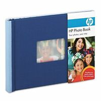 Hp Q8784a Expandable Photo Book 25 Pages 5 1/2 X 7 1/2 Indigo/sky, Cloth Cover