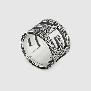 69c33b2f40a31b RING GUCCI G CUBE 15 mm Ring YBC551917001 STERLING SILVER NEW SIZE ...