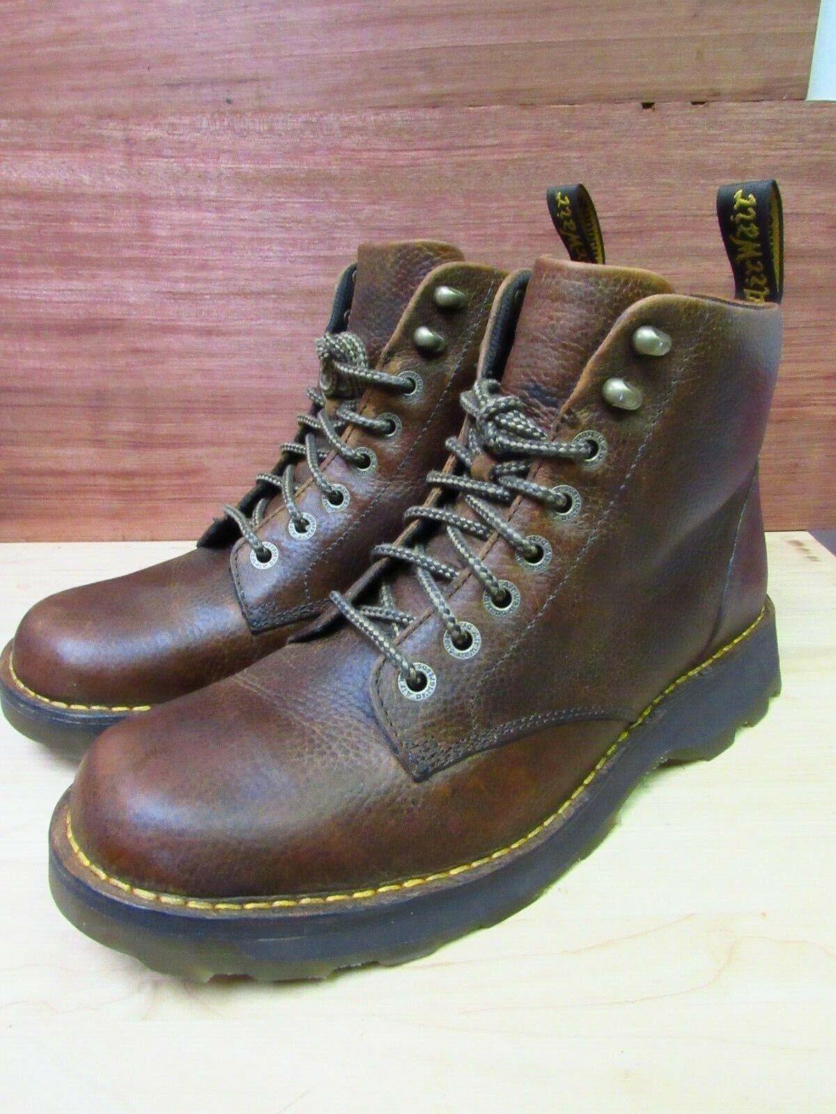 Dr. Martens Air Ware Herren braun Pebble Leather Hiking Stiefel USA Größe 12