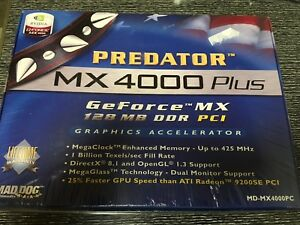 Details about Predator MX 4000 Plus GeForce MX 128MB DDR PCI Graphics  Accelerator, NEW