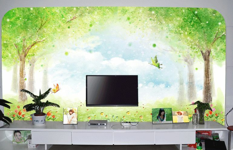 3D Spring Forest Paint 0134 Wall Paper Wall Print Decal Wall Deco AJ WALLPAPER