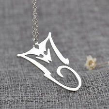 Lovely Michael Jackson BAD silver Tone Necklace .Must See.In Organza gift bag
