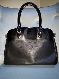 Authentic Louis Vuitton Noir Epi Leather Passy GM Bag Purse Tote ... 752e5800e5