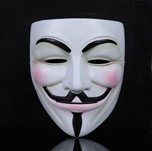 Halloween Fancy Dress Morph Costume Protest V For Vendetta Anonymous Skin Mask