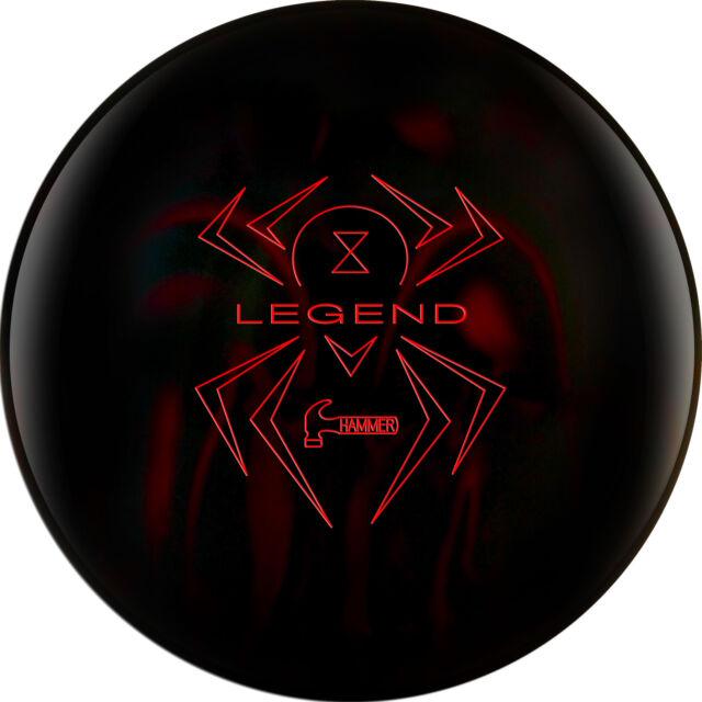 15lb Hammer Black Widow Legend Hybrid Reactive Bowling Ball Black/Red 1st Line