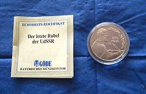 Medaille Russischer Gedenkrubel Cccp 1 Rubel Münze 850 Jahre Udssr