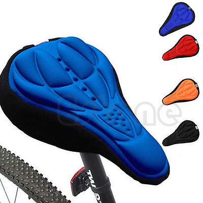 New Sport Cycling Saddle Seat 3D Bicycle Bike Cover Gel Comfort Cushion Soft Pad