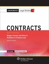 Casenotes Legal Briefs: Contracts Keyed to Knapp, Crystal, & Prince Seventh Edit
