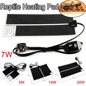 Reptile-Vivarium-Heat-Mat-Heating-Warm-Heater-Pad-With-Thermostat-Controller-New