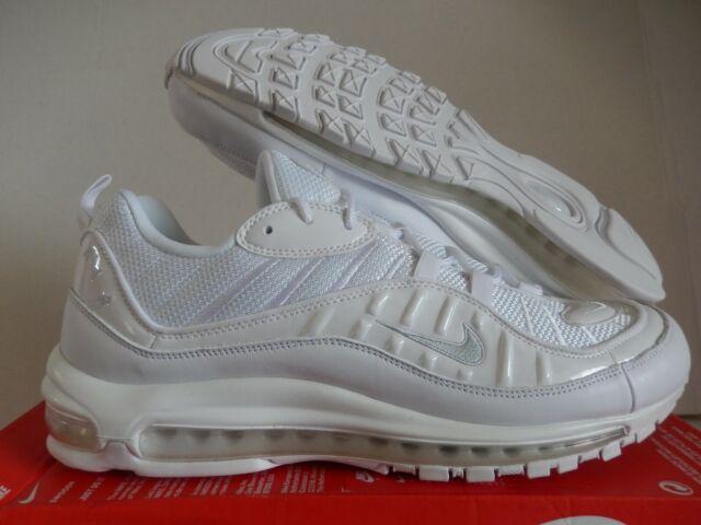 Nike Mens Air Max 98 Triple White White Pure Platinum-black ...
