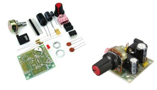 KIT MODULO AMPLIFICATORE AUDIO 3V-12V LM386 potenziometro cavo jack volume cs