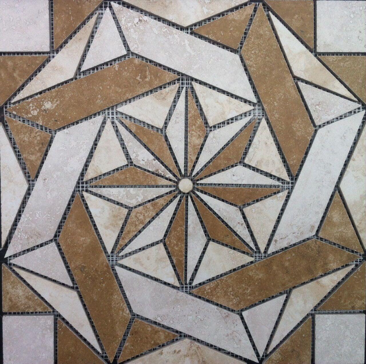 16 3 8  Tile Medallion - Daltile's Esta Villa series