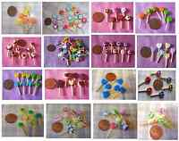 MINIATURE FOOD  LOLLIES LOLLIPOPS candy sweets DOLL  1 packet