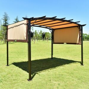 Image is loading 12-039-x9-039-Outdoor-Sunshade-Canopy-Events- & 12u0027x9u0027 Outdoor Sunshade Canopy Events Tent Pergola Metal Frame ...