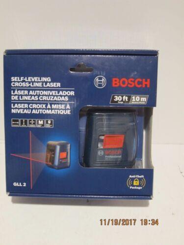 Bosch GLL2 Self-Leveling Cross Line Laser avec montage flexible-Free PRI-navire NEUF!!!