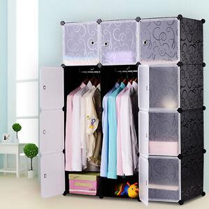 DIY-Kleiderschrank-Regalsystem-Garderobe-Regal-Steckregal-Standregal-mit-Tueren