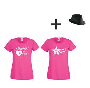 01206ce4434d1 Das Bild wird geladen Junggesellinnenabschied-Damen-T-Shirt-Hut-Security -der-Braut-