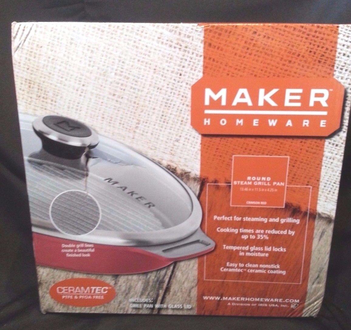 MAKER Homeware Round Steam Grill Pan NEW