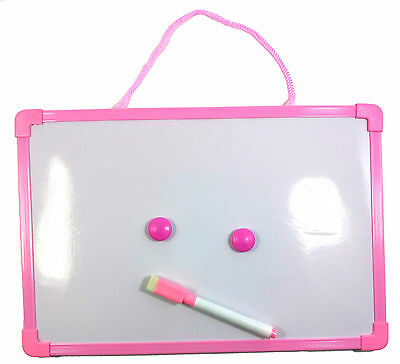 Magnetic Dry Erase cute White Board (+Pen+2 Button) for kids Memo Message - Pink
