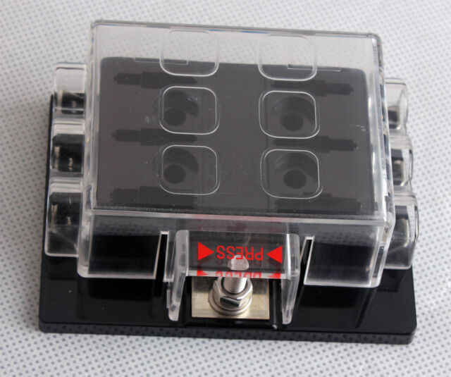 DC32V 6 Way Circuit Car Boat Auto Automotive Blade Fuse Box Block Holder ATC ATO