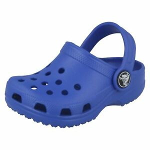 a97dad7c0 Boys Size C4 C5 Classic kids Sea Blue synthetic clog by Crocs SALE ...