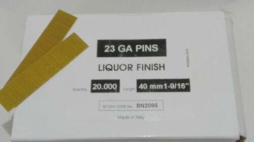 23 GAUGE HEADLESS PINS