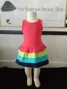 BABY-CHARLIE-AND-ME-GIRL-DRESS-BABY-TODDLER-COLORFUL-COTTON-CUTE-CASUAL-LAYERS