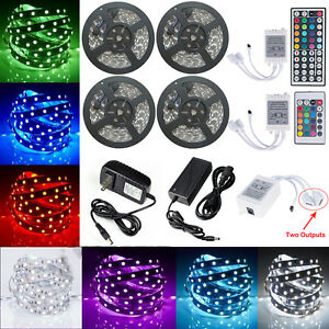 5-20M RGB 5050 SMD Waterproof 300 LED Light Strip Flexible + IR Remote 12V Power