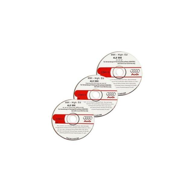 Aggiornamento AUDI CD software V 5570 MMI High 2g a6 4f a8 4e q7 4l versione + istruzioni