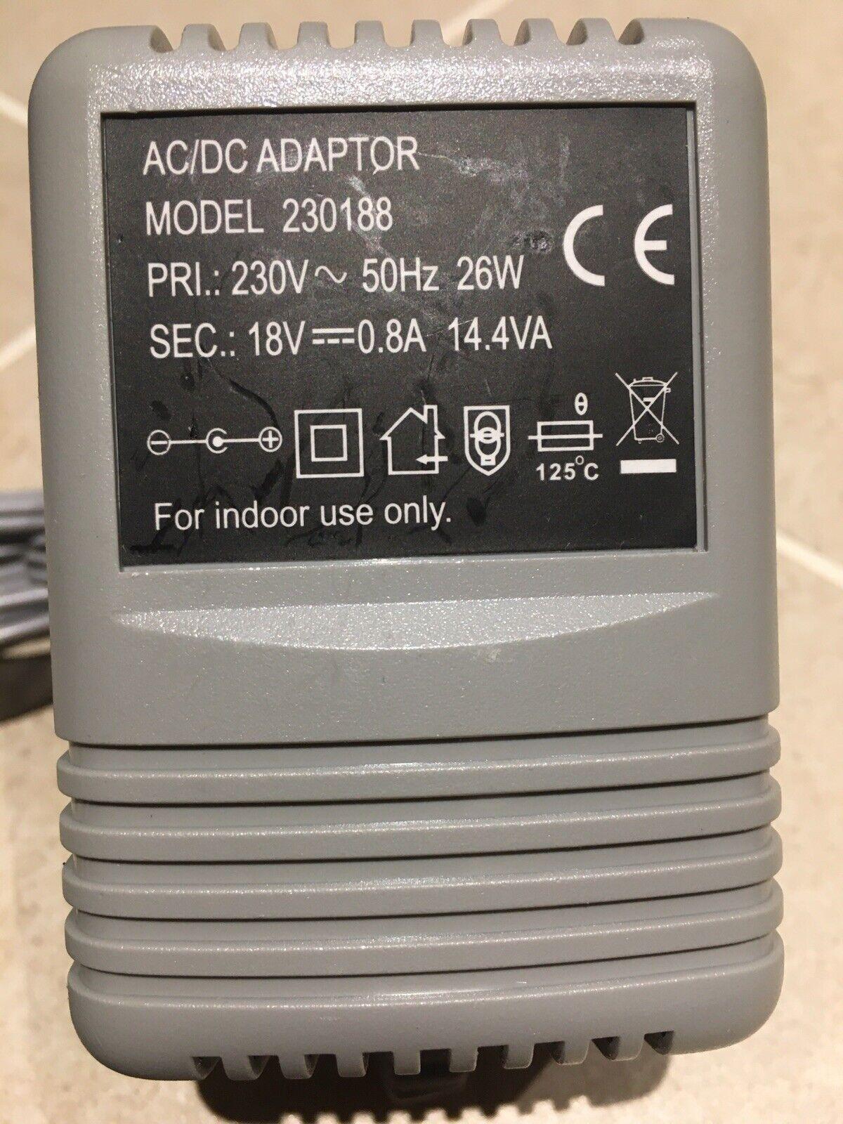 18 volt Mains AC-DC Power Adaptor Heavy Transformer