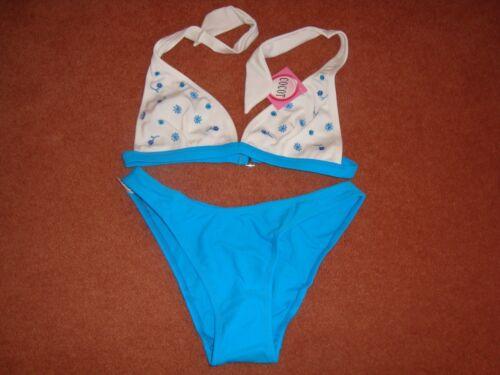 Fiore Ricamato Halter Top Di Bikini Costumi da bagno Set Size 12119